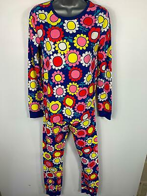 Girls Marks&Spencer Blue Flower Pattern 2 Piece Set Pj Nightwear Kids Age 13/14