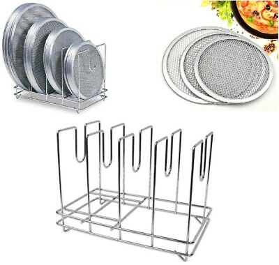 Commercial Heavy Duty Pizza Screen Rack Mash Screen Stand Stainless Steel 4 Slot