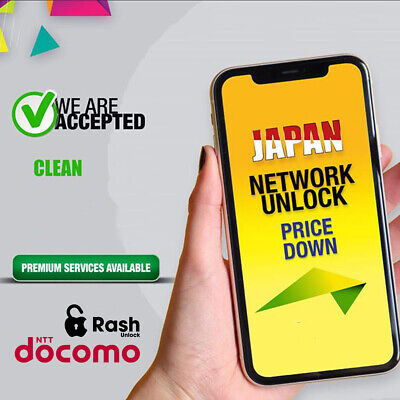 iPhone NTT Docomo Factory Unlock Service 6s to 11Pro Max Fast 24H Instant