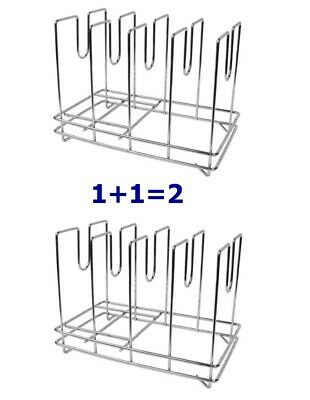 2 Commercial Heavy Duty Pizza Screen Rack Mash Screen Stand StainlesSteel 4 Slot