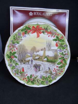 Royal Albert Christmas Theme Collectors Plate - Gathering Winter Fuel