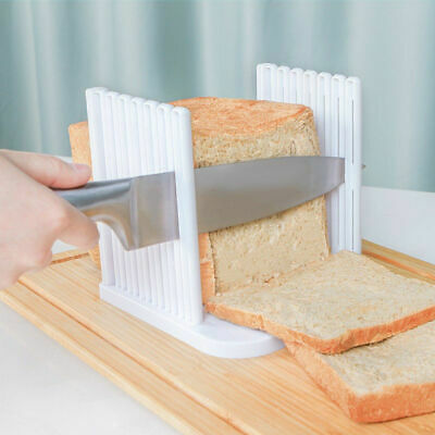 Kitchen Bread Slicer Loaf Guide Cutter Slicing Cutting Sheet White Toast Tool US