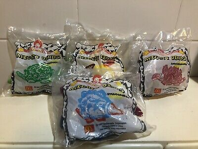 Vintage 1997 Mcdonalds Happy Meal Mighty Dinos Complete Set Of 4