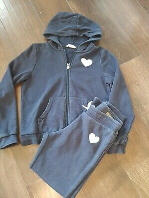 Girls H&m Navy Tracksuit Age 8-10