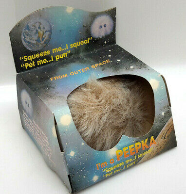 "Vintage Star Trek ""PEEPKA"" in Box- ""Tribble with Eyes""- Squeals & Purrs!"