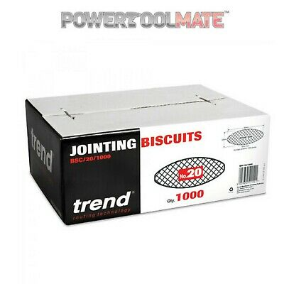 TREND BSC/20/1000 Biscuit for Biscuit Jointer Size 20 box of 1000 Pack