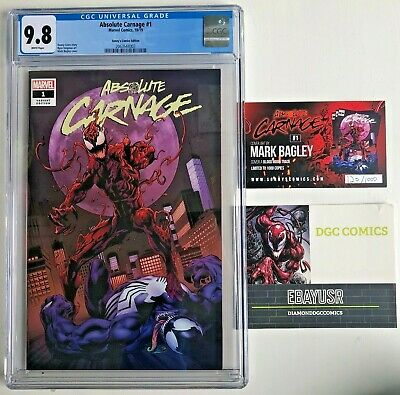 ABSOLUTE CARNAGE #1 CGC 9.8 MARK BAGLEY TRADE VARIANT VENOM w/ COA 1000 RUN
