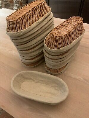 25 Bannetons - Wicker Dough/bread Prooofing Baskets