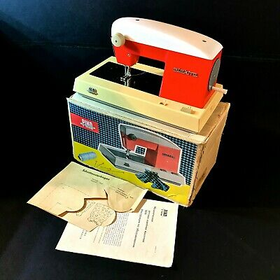 1960 Vintage Hand Crank Child's Kids Toy Sewing Machine Piko Electra Working Box