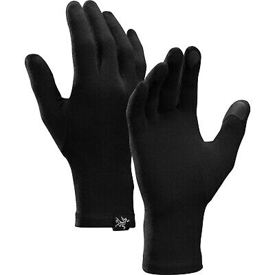 New Arcteryx Gothic Wool Standalone Gloves Or Liners Touch-Screen 16148 Black  M