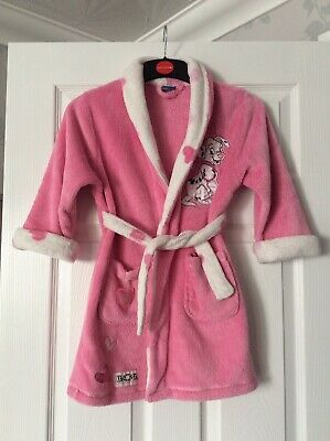 Bhs Disney Dalmation Fleece Dressing Gown Pink/white Age 4-5 Years
