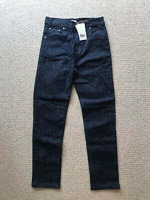 BOYS JOHN LEWIS 'KIN' DARK BLUE DENIM JEANS SKINNY STRAIGHT RRP £16. New. Age 11