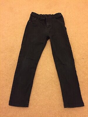 Boys Black Stretchy Skinny Fit Jean Style Trouser 9-10years