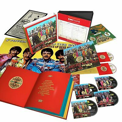 The Beatles - Sgt . Pepper's Lonely Hearts Club Band Deluxe Boxset New