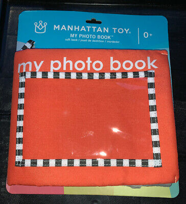 """Manhattan Toy Soft Baby Photo Book 0 M+ Holds up to (5) 4"""" x 6"""" photos"""