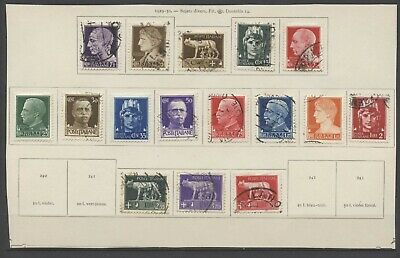 No: 72537 - ITALY - LOT OF 16 OLD STAMPS - ON A PAGE!!