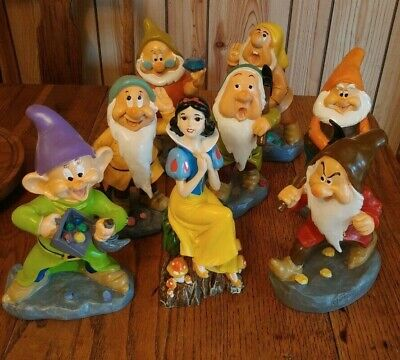 Disney's Snow White and The Seven Dwarfs  Resin Garden Statues  New 2019