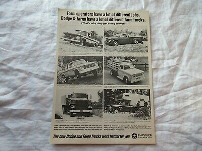 1966 Fargo and Dodge truck advertising print AD