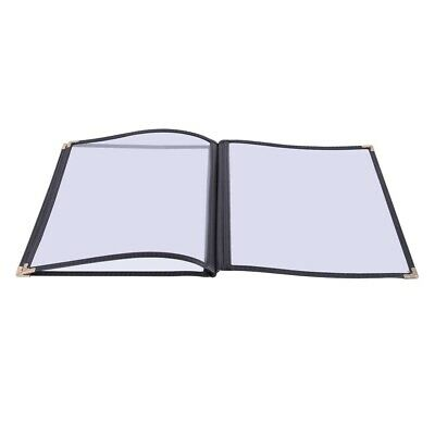 """30 Non-Toxic Cafe Menu Covers 3 Page 6 View 8.5x11"""" Black Triple Fold Book Style"""