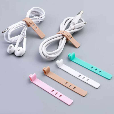 4Pcs cable winder silicone cable organizer wire wrapped cordPTAU