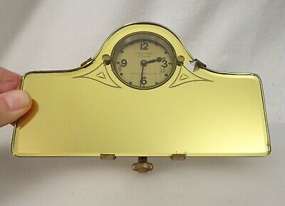 1920s Waltham 8 Day Car Clock with Gold Mirror    - 58716