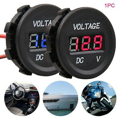 12V-24V LED Digital Display Voltmeter DC Voltage Gauge For Motorcycle Car  US