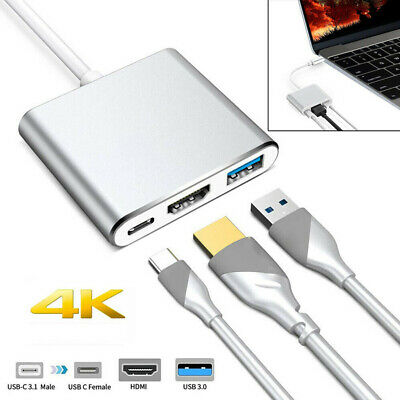 USB 3.1 Type C Male  to HDMI Type-C USB Female 4K Hub Date Charging Adapter 2019
