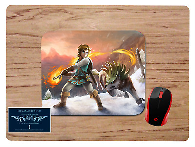 Legend Of Zelda Breath Of The Wild Mousepad Mouse Pad Home Office Gift Design#2