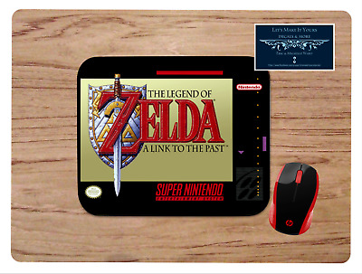 Legend Of Zelda A Link To The Past Box Art Mousepad Mouse Pad Home Office Gift