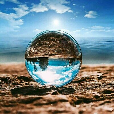 Clear K9 100MM Crystal Photography Lens Ball Photo Prop Background Home Decor