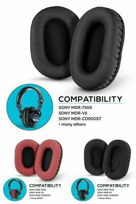 Memory Foam Earpads for Sony MDR 7506/V6/CD900ST and Other On Ear Headphones