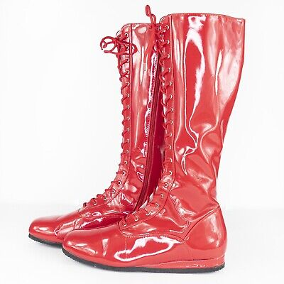 Mens Red Costume Pro Wrestling Boots Size XL (13-14)