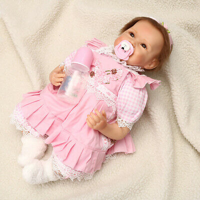55cm Lifelike Reborn Baby Doll Vinyl Kids Girl playmate Bambole Rinascere IT