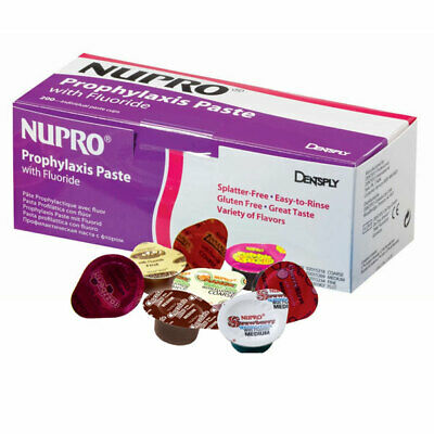 Dentsply 801308 Nupro Prophy Paste Cups Fine Cookie Dough With Fluoride 200/Bx
