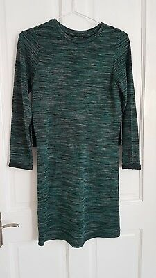 DRESS Green Black Grey Size 6 From River Island Long sleeves Overlay Top girls