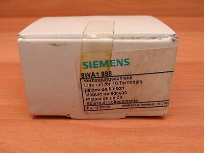 Siemens 8Wa1 898 Link Rail For 10 Terminals (10 Pcs In Box) *Factory Sealed*