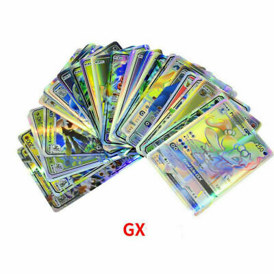 100Pcs 89 GX+11 Trainer Pokemon Cards Holo Flash Trading Card Mixed Gift USA
