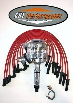 PLUG WIRES CHROME COIL Small Cap BUICK NAILHEAD 401 425 RED HEI Distributor