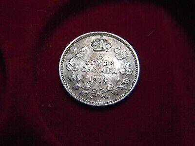 1913 George V Five Cent Coin From Canada    [ Mr236]