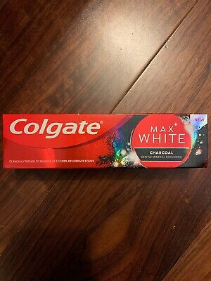 Colgate Max White Charcoal Gentle Mineral Scrubbing Toothpaste. New