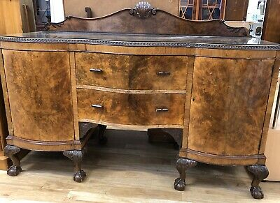 REDUCED!!! Original Art Deco Sideboard Walnut Burr Finish