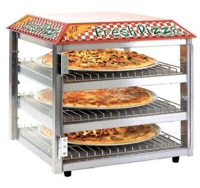 """Pizza and Snack Merchandiser, Three Shelves for up to 16"""" Pizzas."""