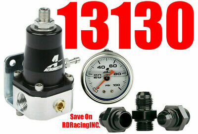 Aeromotive 13130 EFI Bypass Regulator UP TO 1000 HP combo Gauge & Fittings new