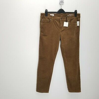 Gap Womens Always Skinny Corduroy Pants Size 31 Short Camel Brown Stretch