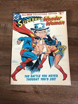 Limited Collector/'s Edition C-54 SUPERMAN vs WONDER WOMAN PRINT