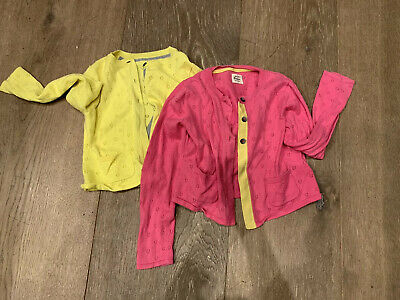 mini boden girls 6-7 Cardigan X2 Pink And Yellow