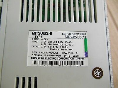 Mitsubishi servo driver MR-J2-60CT MRJ260CT  Refurbished 2-5 days delivery