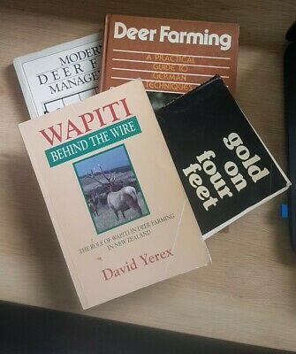 4 X Deer Farming Books From Australia New Zealand And Germany