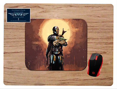 The Mandalorian Baby Yoda Art Mousepad Mouse Pad Home Office Gift