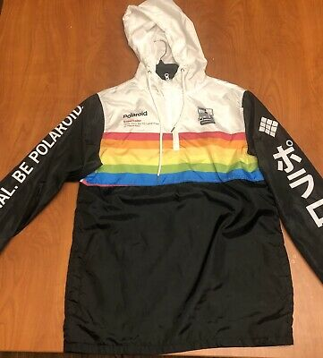 Polaroid Windbreaker-Rare Design- Free Shipping-Supercolor Time-Zero SX-70
